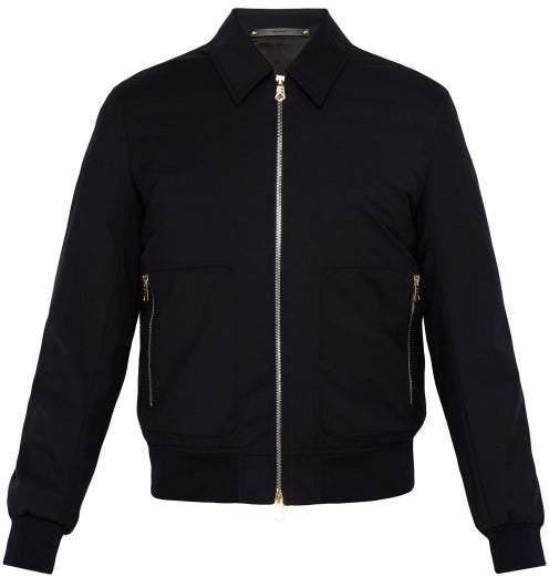 Paul Smith Loro Piana Wool Bomber Jacket - Mens - Navy