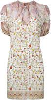 No.21 ruffle neck floral print dress