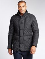 Marks and Spencer Quilted Textured Jacket with StormwearTM