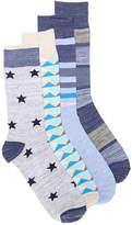 Lucky Brand Men's Geometric Men's Crew Socks - 4 Pack