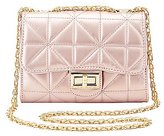 Charlotte Russe Metallic Quilted Crossbody Bag