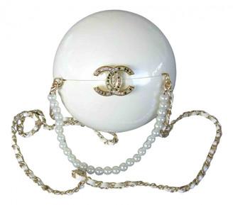 Chanel Pearl Bag White Plastic Handbags