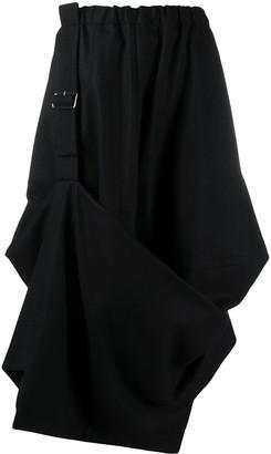 Comme des Garçons Comme des Garçons Asymmetric Buckled Midi Skirt
