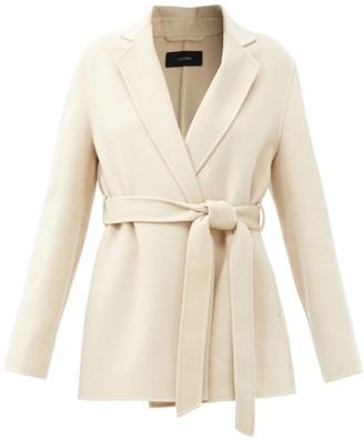 Joseph Cenda Wool-blend Wrap Coat - Cream