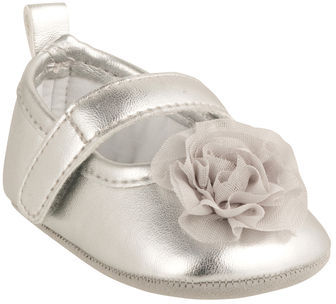 Carter's Mary Janes with Chiffon Rosette
