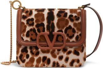 Valentino Small V-Sling Leopard Spot Shoulder Bag
