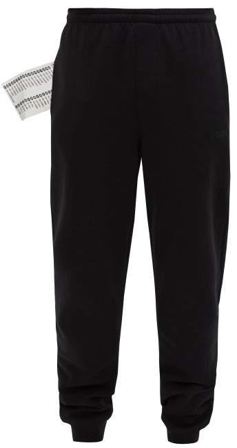 afc0c2a5 Logo Print Cotton Track Pants - Mens - Black
