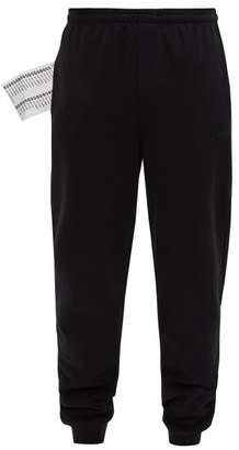 Vetements Logo-print Cotton Track Pants - Mens - Black