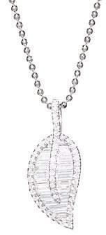 Anita Ko 18K Gold& Diamond Leaf Necklace