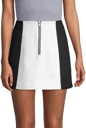 Wythe Ny Colorblocked Cotton Mini Skirt