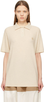 Loewe Beige Cashmere Anagram Polo
