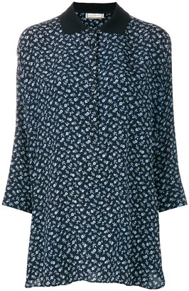 Versace Pre-Owned Three-Quarters Sleeve Floral Blouse