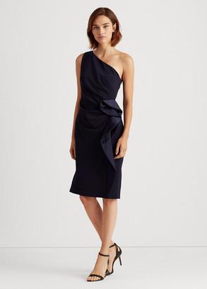 Ralph Lauren Ruffle-Trim Crepe Dress