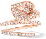 Anita Ko Calla Lily Coil 18-karat Rose Gold Diamond Ring - 6