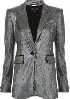 Rachel Zoe single button sequin jacket