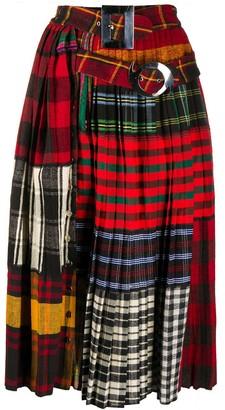 Chopova Lowena Patchwork Pleated Skirt