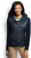 Lands' End Women's Hybrid Primaloft Blazer-Classic Navy Lattice Print