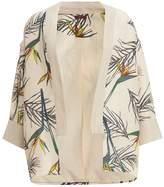 WtR - WtR Cream Linen Tropical Print Kimono Jacket