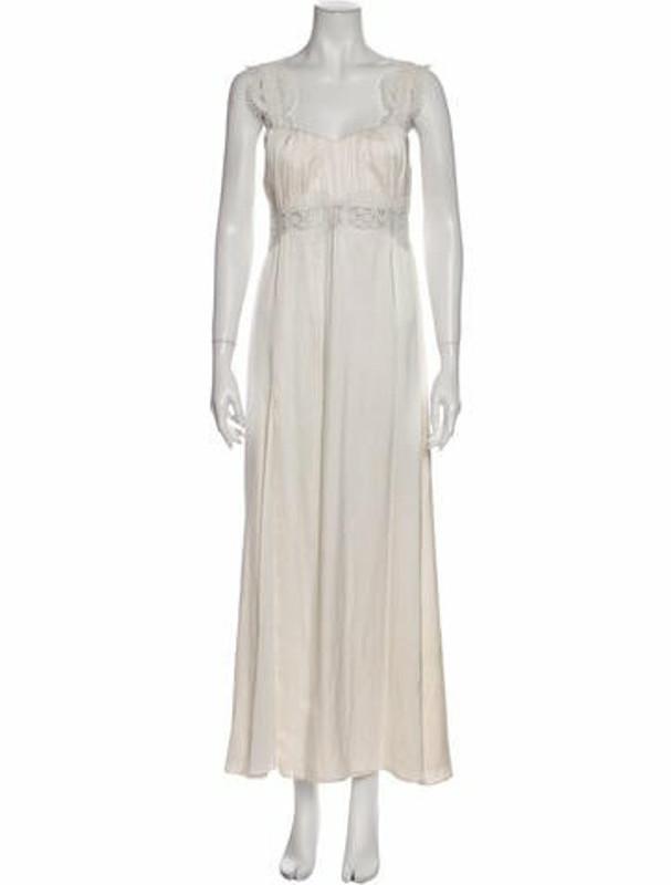 Stone_Cold_Fox Silk Long Dress White
