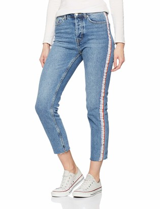 Only Women's onlEMILY HW Straight Rib DNM Jeans MB