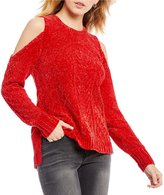 Gibson & Latimer Chenille Cold Shoulder Sweater