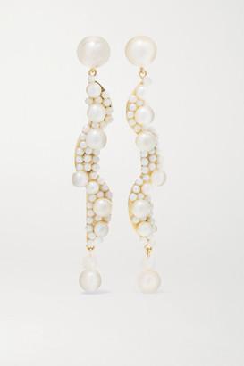 Sophie Bille Brahe Calder Perle 14-karat Gold Pearl Earrings