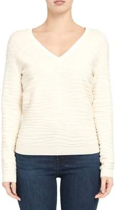 Theory Zebra Plush Pullover Sweater