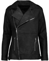 RtA Chrisophe zip-embellished leather biker jacket