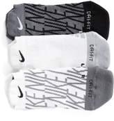Nike Women's Dry 3-Pack Cushioned No-Show Socks