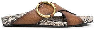 Pedro Garcia Antia snakeskin-print sandals