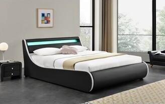 Orren Ellis Truitts Faux Leather Upholstered Storage Platform Bed Size: California King