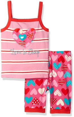 Hatley Girl's Crazy Hearts Tank Pyjama Set
