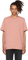 MSGM Pink Back Box Logo T-shirt