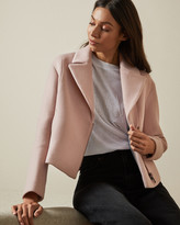 Ted Baker ASINATA Cropped wool blend biker jacket