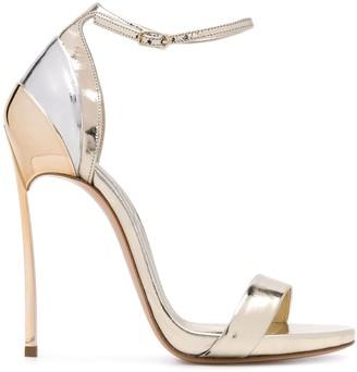 Casadei 125mm Metallic Panel Sandals