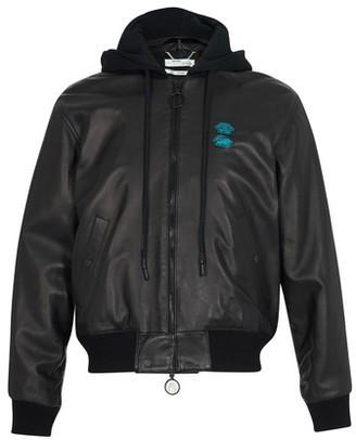 Off-White Leather bomber jacket