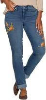 Martha Stewart Canary Embroidered Girlfriend Jeans