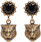 Gucci Gold Feline Earrings