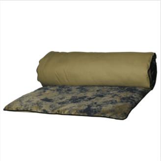 Harmony Textiles - 85 x 200cm Cotton and Velvet Noida Quilt - Cotton/velvet | dusk - Dusk/Bronze