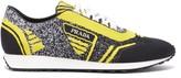 Prada - Milano Jacquard Knit Low Top Trainers - Mens - Black Multi