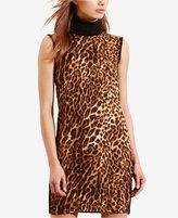 Lauren Ralph Lauren Ocelot-Print Turtleneck Dress