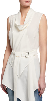 J.W.Anderson Draped-Neck Asymmetric Top