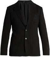 Dolce & Gabbana Embroidered patch-pocket blazer