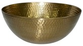 Threshold Hammered Large Serving Bowl with Gold Finish
