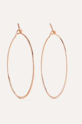 Brooke Gregson 18-karat Rose Gold Hoop Earrings