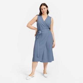 Everlane The Japanese GoWeave Sleeveless Wrap Dress