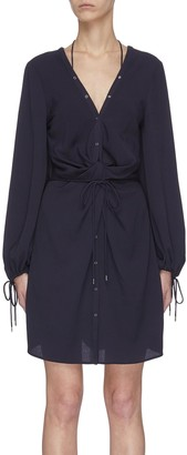 Dion Lee Knotted Waist Tunic Dress