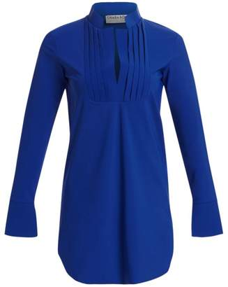Chiara Boni Ineta Smocked Stretch-Jersey Tunic