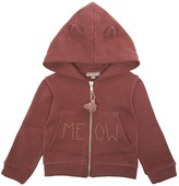 Emile et Ida Zip-Up \u201cMeow\u201d Hooded Sweatshirt