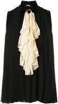 Gucci embellished sleeveless blouse - women - Silk/Polyamide/Acetate/Viscose - 36